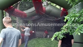 Inflatable Batting Cage with Pitching Machine