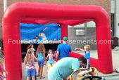 Fastball Speed Pitch with Inflatable Sports Arena