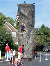 Hard Rock Climbing Wall