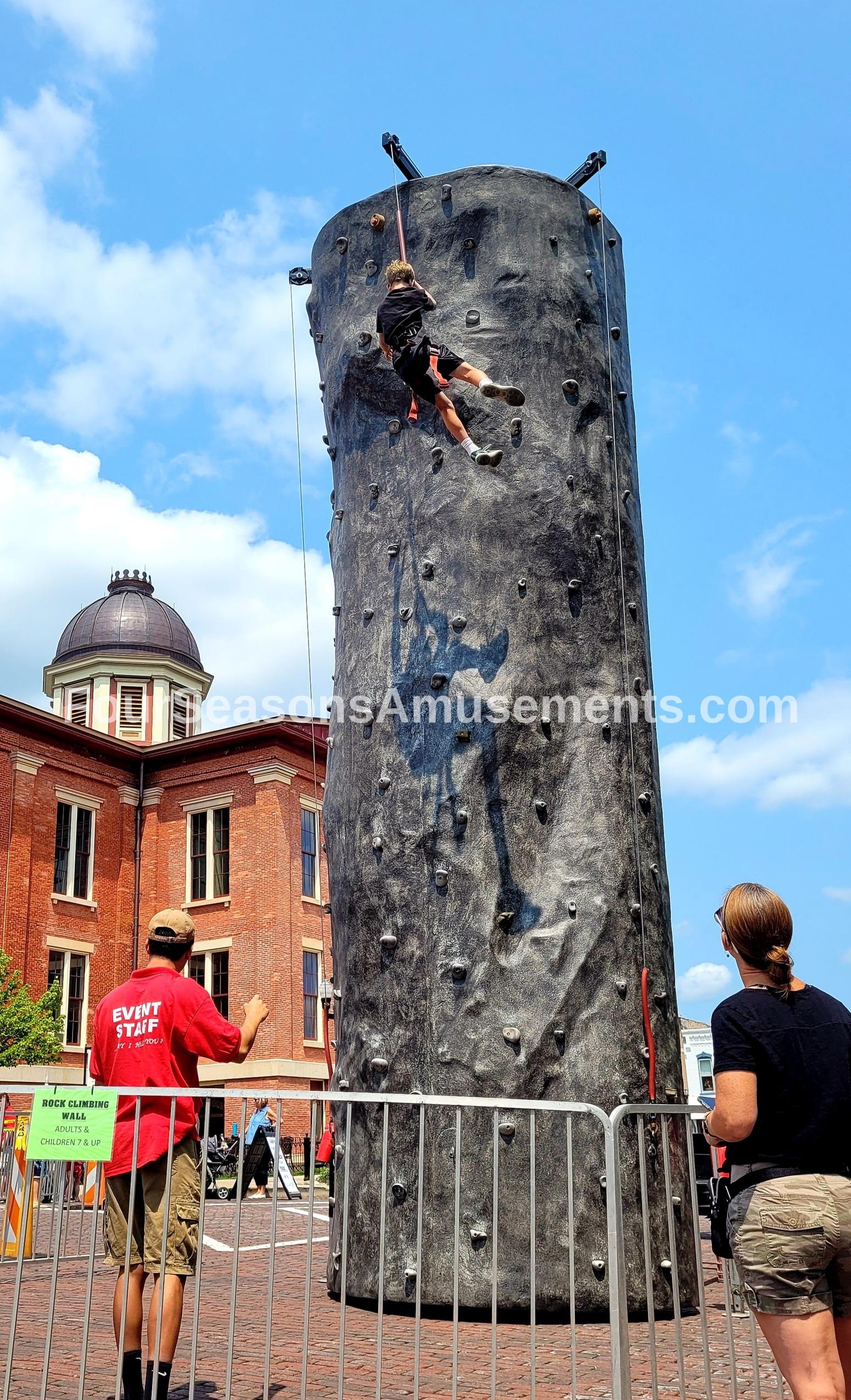 Hard Rock Climbing Wall