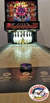 Strike Zone Shuffle Bowling Alley Game