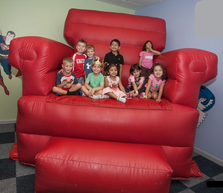 The Big Red Chair- Inflatable Photo Opp!