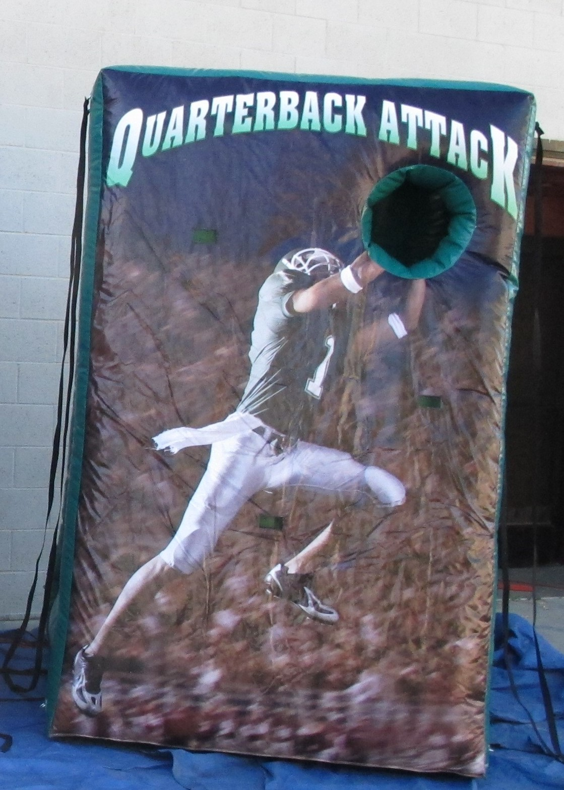 QB Attack Football Toss Inflate